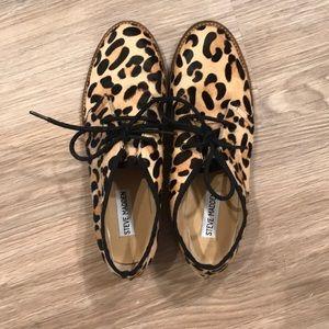 Steve Madden Droid-L Shoe: Leopard print calf hair